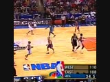 2001 The end of the 01 NBA All-Star game was insane. East came back from a 21 point fourth quarter deficit to get the win. - - W