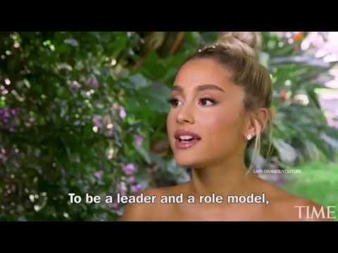 Ариана дает интервью для журнала