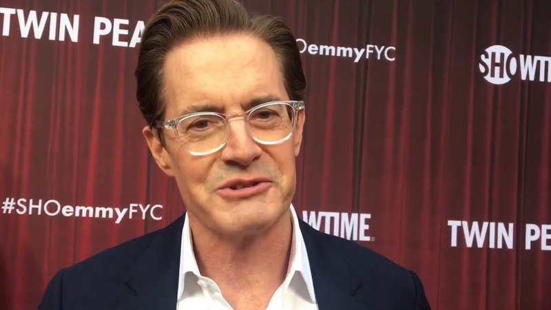 Kyle MacLachlan spills secrets of 'Twin Peaks: The Return' at Emmy FYC red carpet