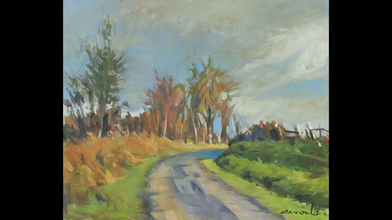 Route du Saintois - 46 - peinture à l'huile
