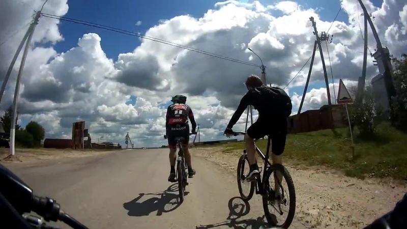 Велозаезд в Спасск-Рязанский. По парому через Оку. Горящий велик