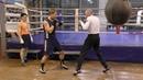 Бокс челнок отклон удар через руку