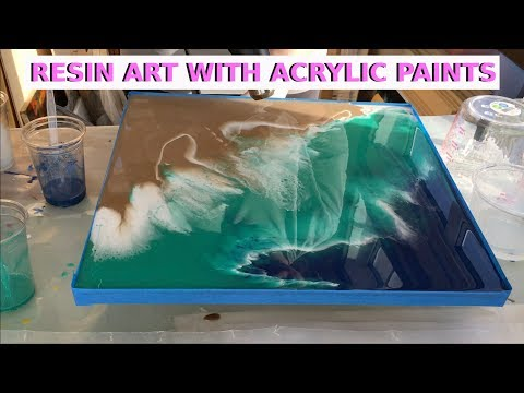 Resin Art With Acrylic Paints - Beach Effect (First Layer) by Arijana Lukic 11