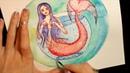 Русалочка акварелью. SpeedPaint Mermaid
