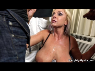 Naughty Alysha - Blow Bang With Jenny, BDSM, Milf, Anal, Fisting, Prolapse, Pussy, Gape, Big Tits Boobs, Toys, Dildo