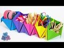 Origami Facil: Organizador de Escritorio de Papel Como Hacer Origami Modular Tutorial Pintura Facil