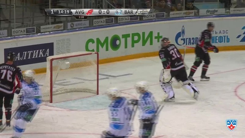 Моменты из матчей КХЛ сезона 14/15 • Гол. 0:1. Дмитрий Уппер (Барыс) открыл счёт в матче 01.03