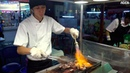 Grilling Beef with a Burner Street Food in Taiwan