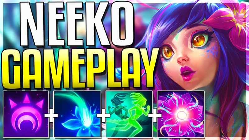 Worlds First Neeko Gameplay! All Spells, Skins Emotes Revealed! - League of Legends