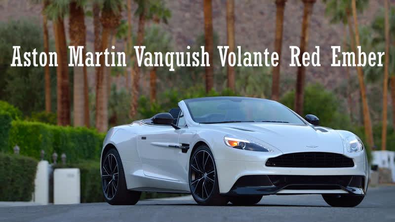 2014 Aston Martin Vanquish Volante Red Ember