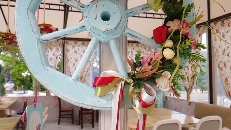 Декор летней площадки ресторана Украина. Декупаж, флористика и прочие интересности проекта
