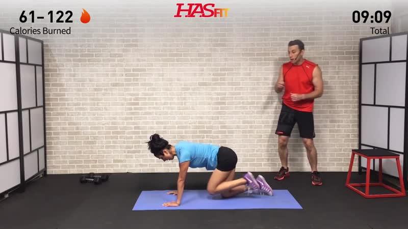 17 Min Butt Workout at Home Glute Butt Workouts for Women Men w Dumbbells