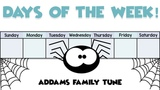 Days Of The Week Addams Family Tune