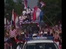 Croatia football team gets a heroes welcome as they return home from the World Cup