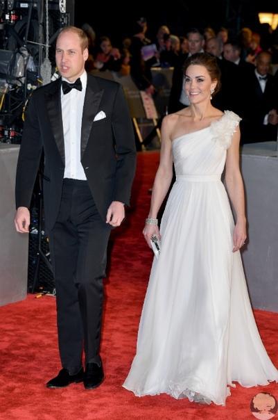 Кейт Миддлтон и принц Уильям на премии BAFTA-2019
