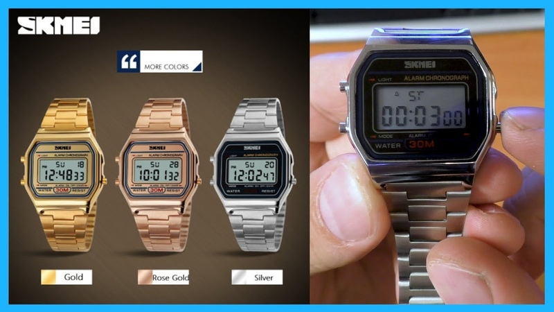 Хорошие электронные часы skmei 1123