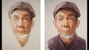 Watercolor portrait painting tutorial old man portrait
