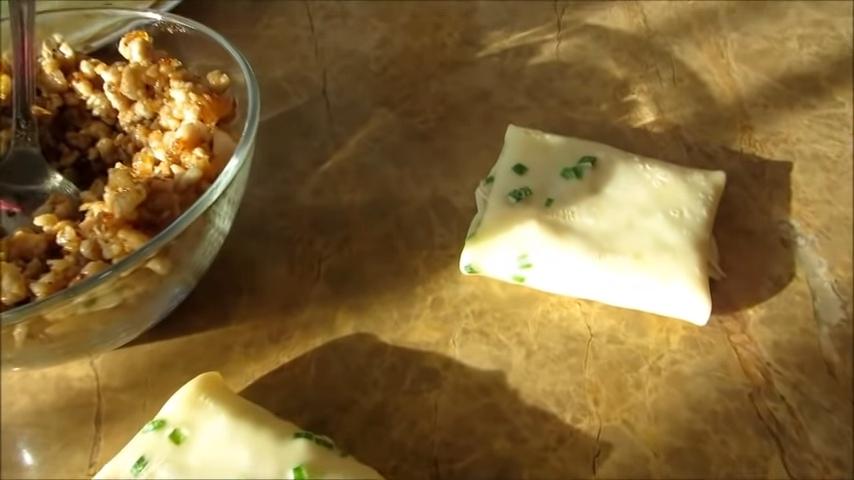Фаршированные блинчики в духовке