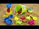 Лепим Цветные Куличики из Песка👍 Изучаем Цвета на Английском для Детей