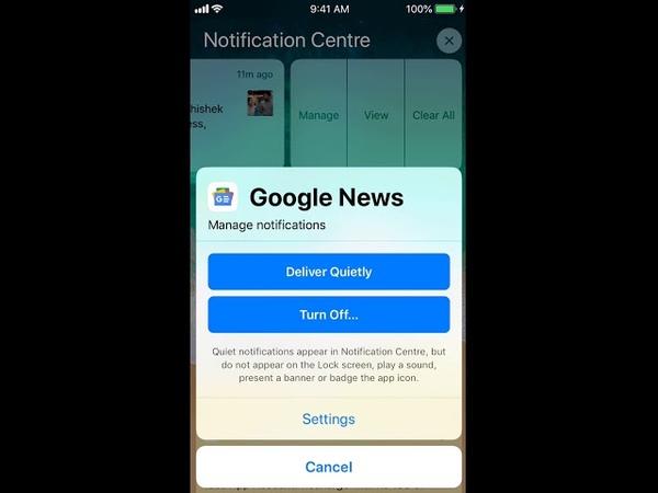 IPhone new IOS 12 notification Setting Change 2018