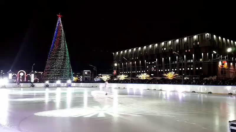 Открытие новогодней столицы с участием вип-гостей. Ледовое шоу. Фейерверк.