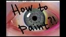 How to paint a realistic eye in SAI как нарисовать реалистичный глаз в САИ