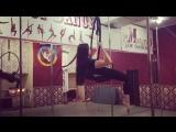 Lion Rolls on Hoop, Darya Angel