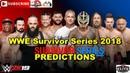 Survivor Series 2018 Men's 5 on 5 Traditional Survivor Series Elimination Match Predictions WWE 2K19