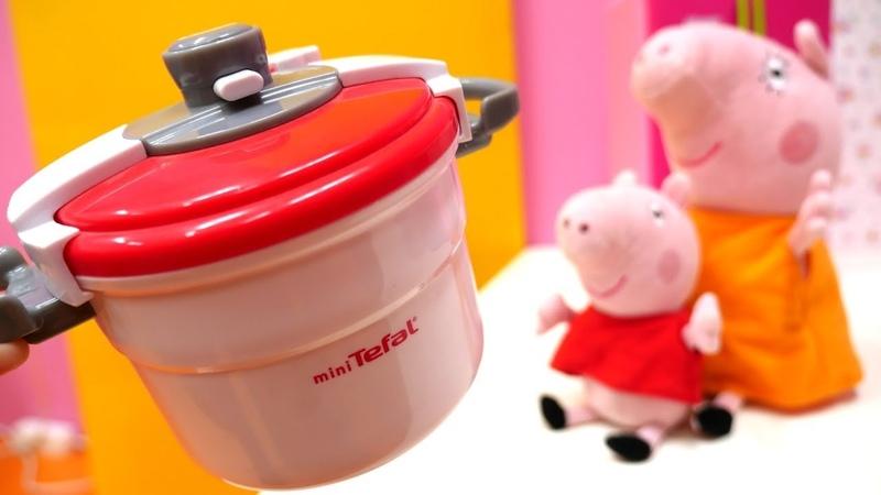 Peppa pig español La olla a presión Vídeos de juguetes