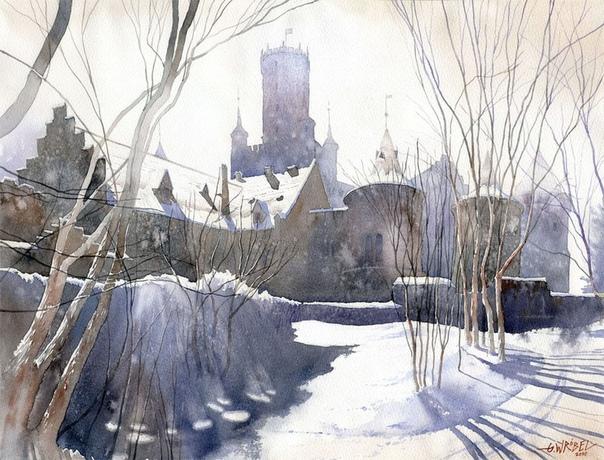 Гжегож Врубель живет и работает в Варшаве, акварелью начал рисовать в возрасте 12 лет.