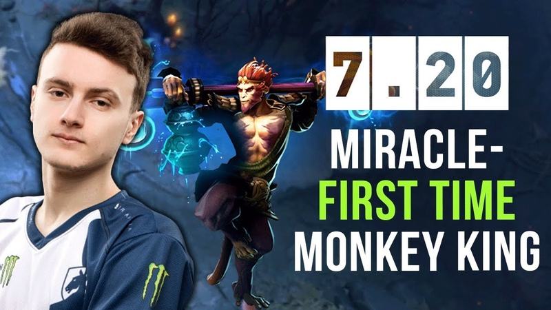 Miracle- First Time Monkey King on New Patch 7.20 ft. JerAx, N0tail, Pajkatt Velheor - Dota 2