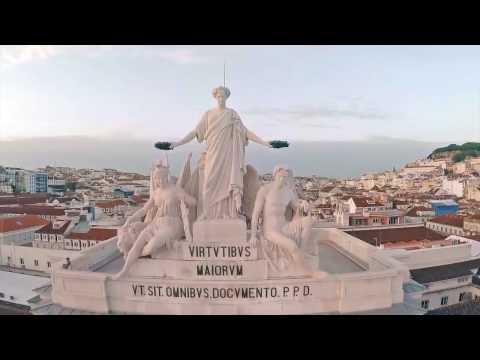 Португалия - Лиссабон - виды с высоты птичьего полета