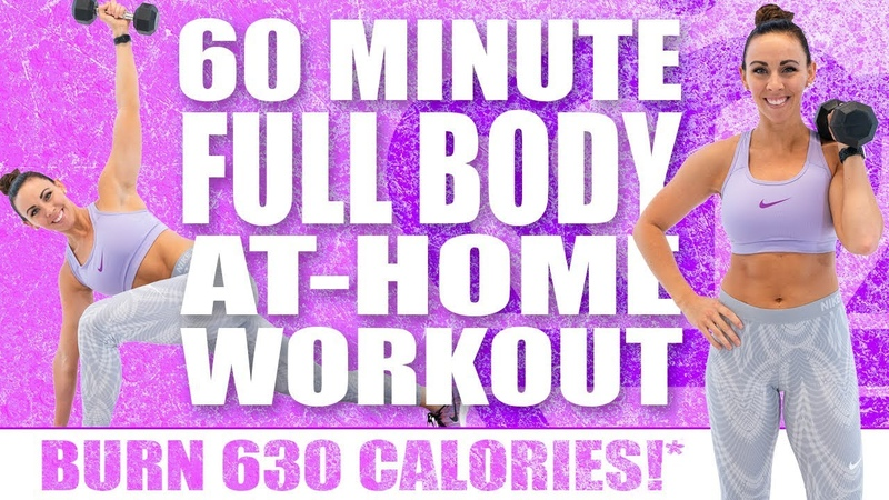 60 Minute FULL BODY AT HOME WORKOUT WITH ABS! 🔥 BURN 630 CALORIES!* 🔥 with Sydney Cummings
