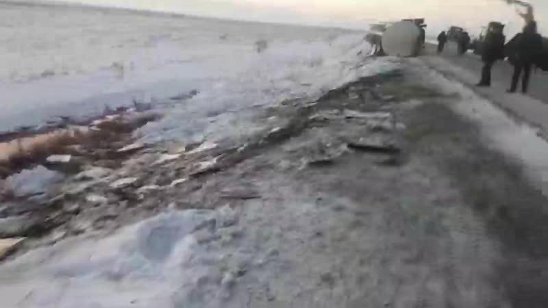 Авария спиртовоза на трассе Алматы Екатеринбург