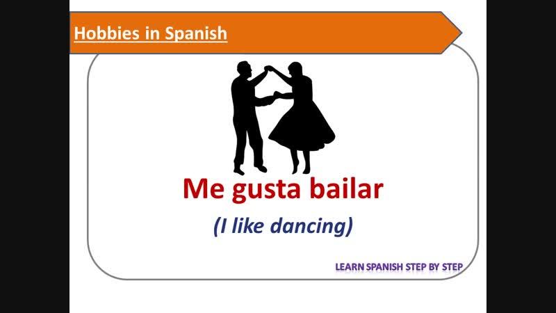 Spanish lesson 31 - Talk about hobbies - Hablar sobre las aficiones en español