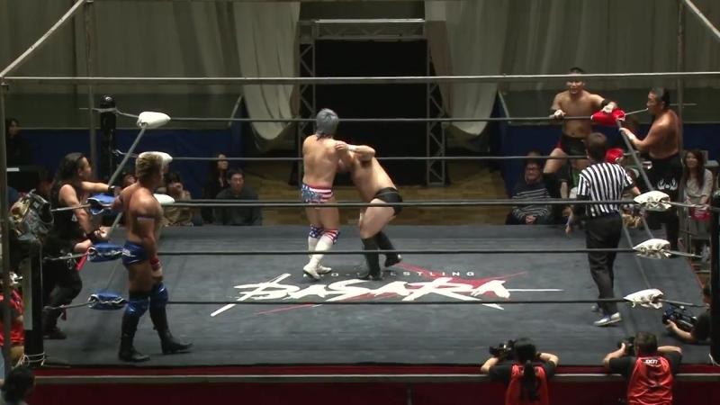 Don Fujii, Ryuichi Sekine, Fuminori Abe vs. FUMA, Trans-Am Tanaka, Trans-Am Ryuji (BASARA - Vajra 78 ~ Luyang no Hoko)