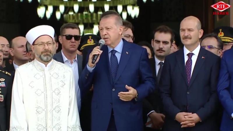 Cumhurbaşkanı Recep Tayyip Erdoğan Jandarma Sahil Güvenlik Akademisi Camii açılışı 29 Haziran 2018