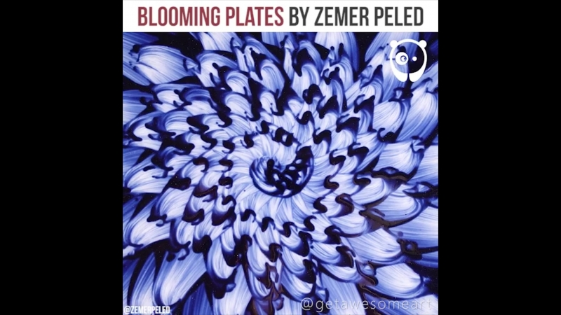 Создание керамики с цветочным узором от художника Zemer Peled
