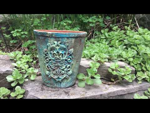 Vintage Patina Planter featuring [re]design with prima Moulds