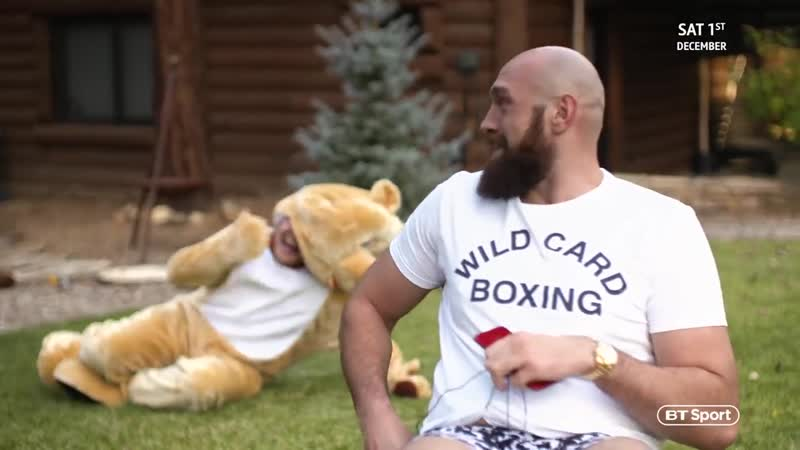 Tyson Fury bear prank This is hоw Team Fury deals with mascots no jaws were broken
