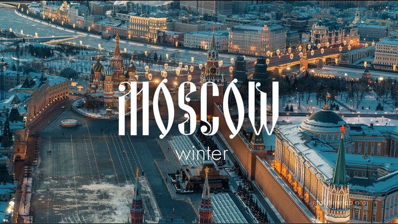 Desperation of winter Moscow \ Russia Drone Video \ Shot on DJI X7