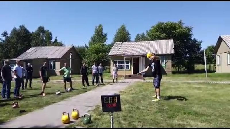 Дмитрий Мухин Мастер класс по силовому жонглированию гирей