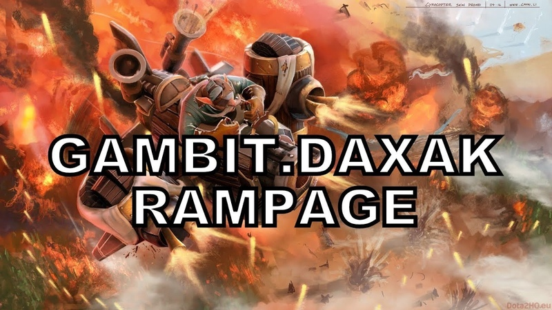 Gambit.Daxak - Pro Rampage - Gyrocopter - Gyro Strikes Again - Pro Gameplay -Best Plays - Dota 2