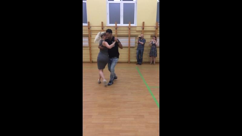 Аргентинское танго. Милонга. Ч.2. Сара Вестин и Хуан Канавире. 24.05.2018