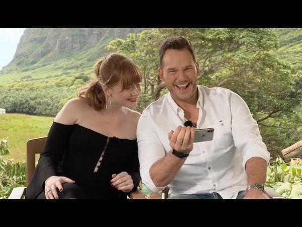 JURASSIC WORLD FALLEN KINGDOM interview with Chris Pratt and Bryce Dallas Howard (unedited)
