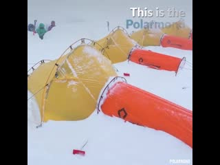 This tent is perfect for camping in extreme conditions⛺️