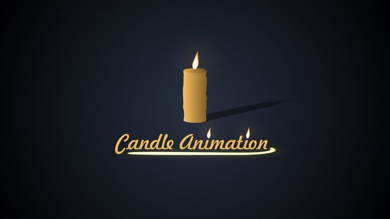 Candle animation in After Effects