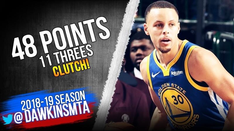 Stephen Curry CLUTCH 48 Pts, 11 Threes! Full Highlights 2019.01.13 Warriors vs Mavs   FreeDawkins