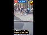 В Москве на 1-ой Тверской-Ямской мужчину убили одним ударом ноги в драке у кафе, где компания отмечала день рождения друга