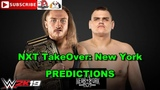 WWE NXT TakeOver New York United Kingdom Championship Pete Dunne vs. WALTER Predictions WWE 2K19